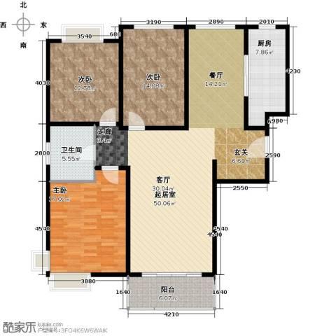 康悦亚洲花园3室0厅1卫1厨125.00㎡户型图