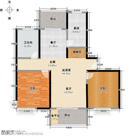 东方听潮豪园2室0厅1卫1厨118.00㎡户型图