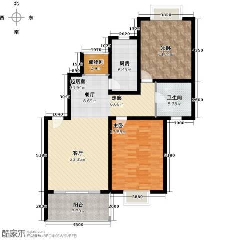 康悦亚洲花园2室0厅1卫1厨102.00㎡户型图