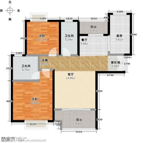 盛世宝邸2室0厅2卫1厨92.00㎡户型图