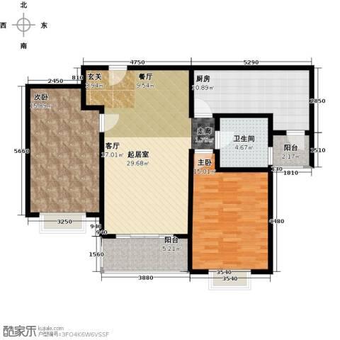康悦亚洲花园2室0厅1卫1厨94.00㎡户型图