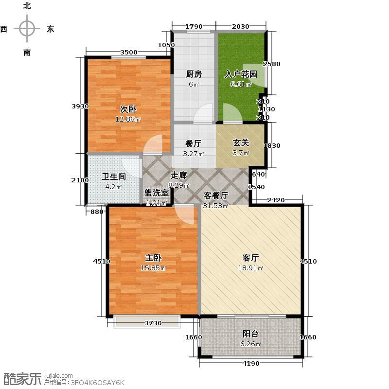 中信和平家园--42套户型2室1厅1卫1厨