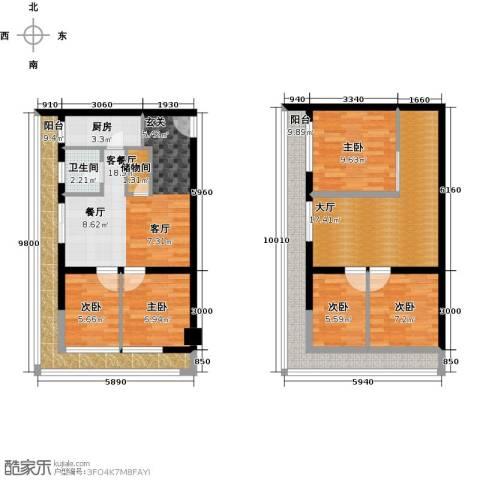底特律财富天地5室1厅1卫1厨117.00㎡户型图