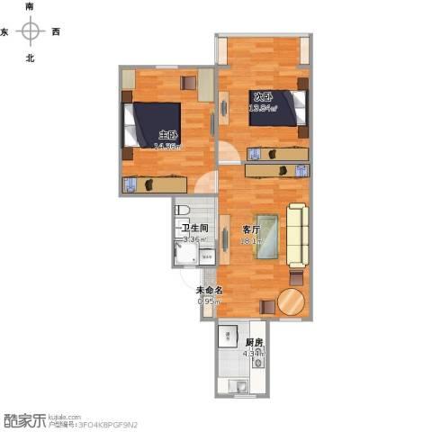 瑞冬小区2室1厅1卫1厨73.00㎡户型图
