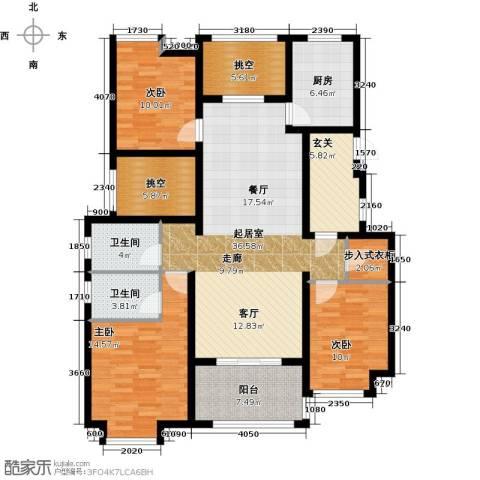 新城馥华里3室0厅2卫1厨130.00㎡户型图