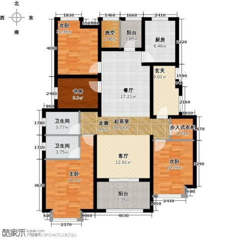 新城馥华里4室0厅2卫1厨140.00㎡户型图