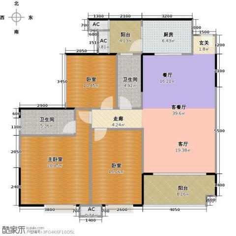中兴花园二期1厅2卫1厨127.00㎡户型图