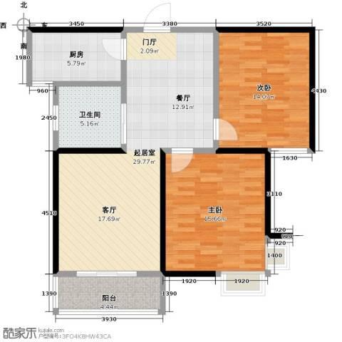 东方听潮豪园2室0厅1卫1厨84.00㎡户型图