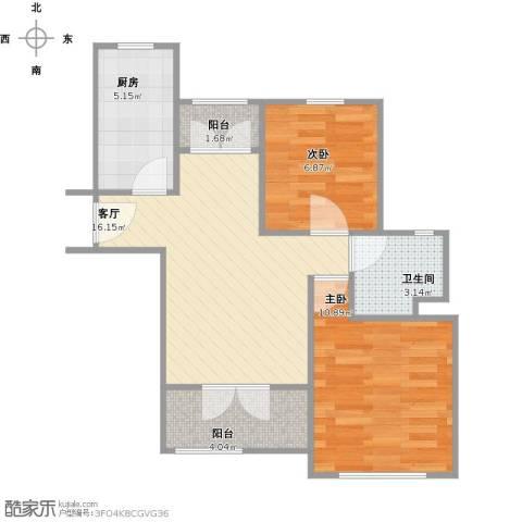 朱家角镇B3、B4地块2室1厅1卫1厨66.00㎡户型图