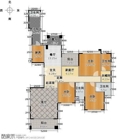 山语清晖花园3室0厅4卫1厨230.00㎡户型图