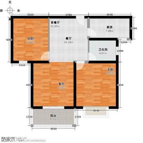嘉乐东润舒庭2室1厅1卫1厨88.00㎡户型图