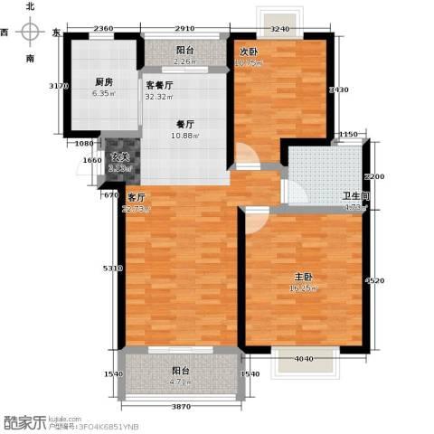 嘉乐东润舒庭2室1厅1卫1厨89.00㎡户型图