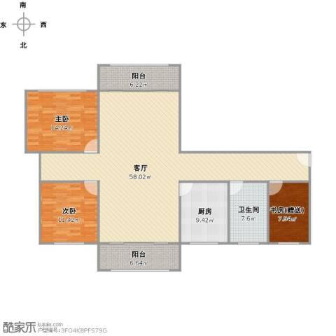 大华锦绣华城第16街区2室1厅1卫1厨162.00㎡户型图