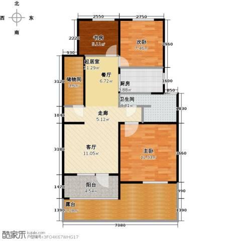 朗诗未来树3室0厅1卫1厨82.00㎡户型图
