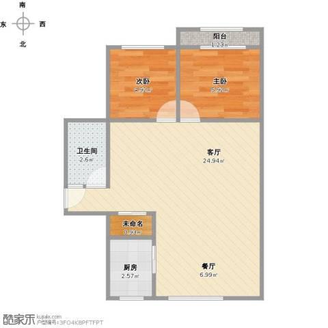 天申综合小区2室1厅1卫1厨59.00㎡户型图