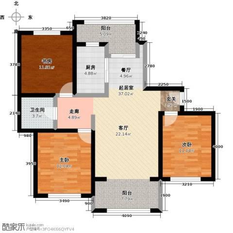 宝华盛世花园3室0厅1卫1厨102.00㎡户型图