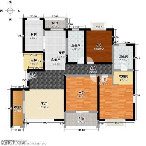 嘉乐东润舒庭3室1厅2卫1厨140.00㎡户型图