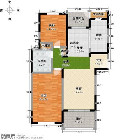 金沙雅苑2室0厅1卫1厨121.00㎡户型图