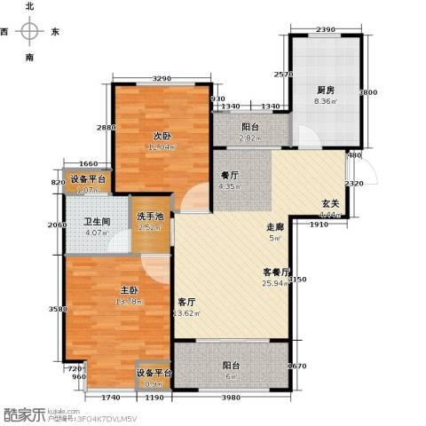 虹桥宝龙城2室1厅1卫1厨89.00㎡户型图