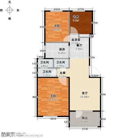 朗诗未来树3室0厅3卫1厨85.00㎡户型图