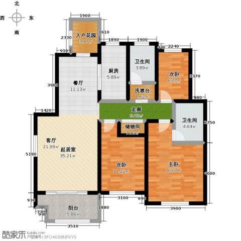 海上纳缇3室0厅2卫1厨112.00㎡户型图