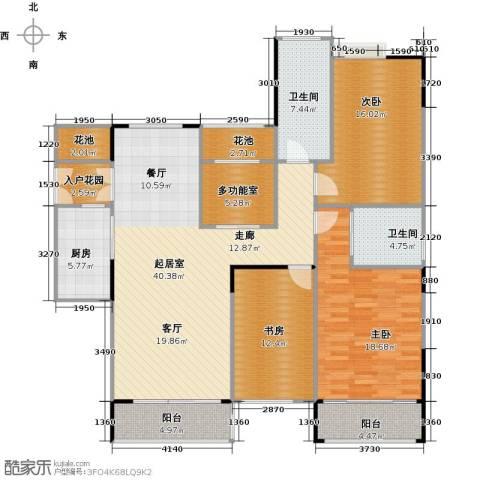 睿山3室0厅2卫1厨140.00㎡户型图