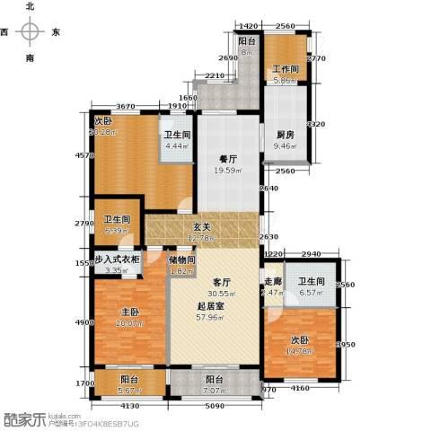 绿洲康城金邸3室0厅3卫1厨198.00㎡户型图
