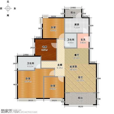 绿地芳满庭1室0厅2卫1厨116.00㎡户型图