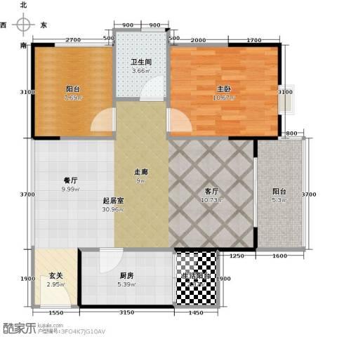 广州星河・山海湾1室0厅1卫1厨79.00㎡户型图