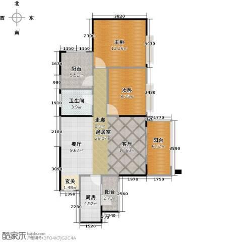 广州星河・山海湾2室0厅1卫1厨89.00㎡户型图