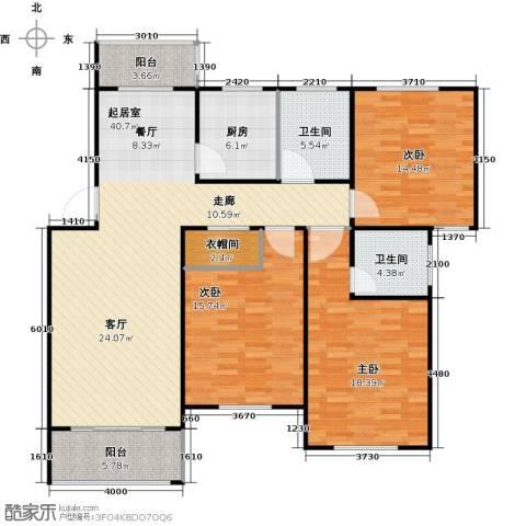 临港泥城苑3室0厅2卫1厨126.00㎡户型图
