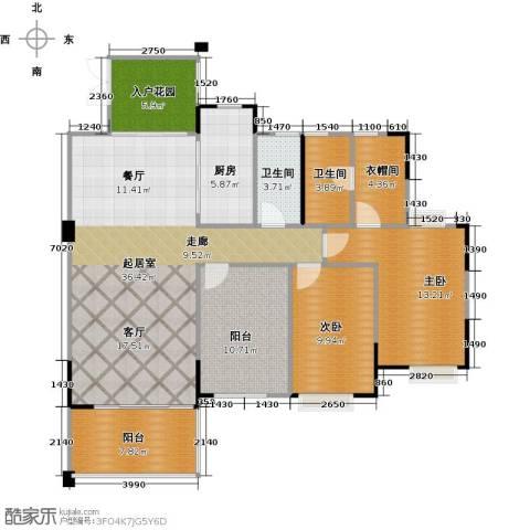 广州星河・山海湾2室0厅2卫1厨122.00㎡户型图