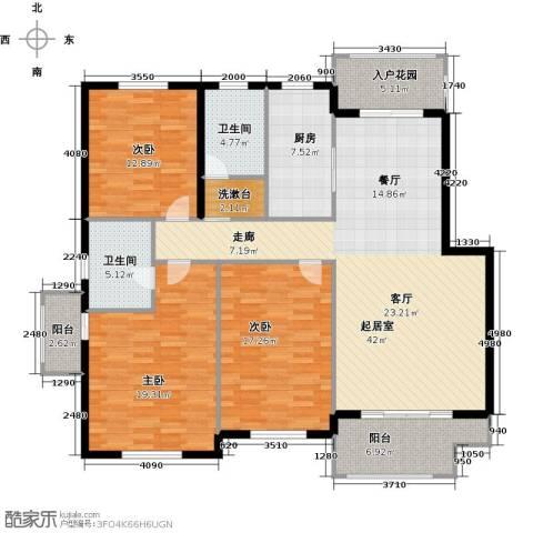 海上纳缇3室0厅2卫1厨139.00㎡户型图