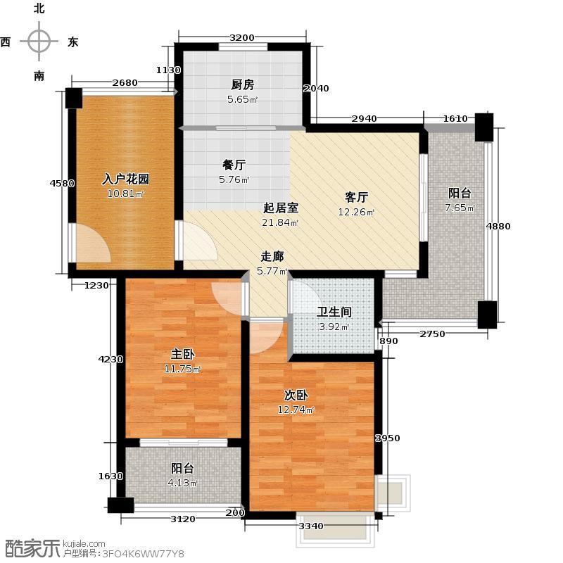 保利叶上海b3户型2室1卫1厨