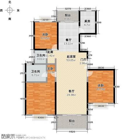 东方听潮豪园3室0厅2卫1厨146.00㎡户型图