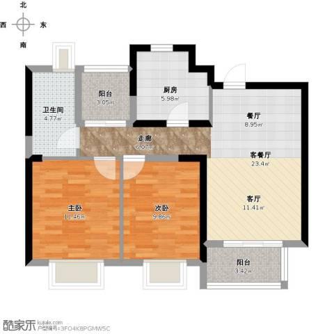 尚海湾豪庭2室1厅1卫1厨90.00㎡户型图