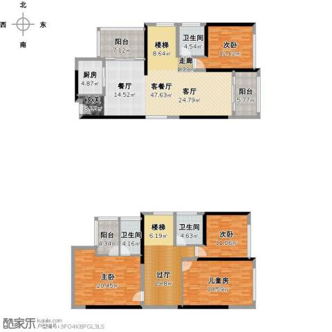 尚海湾豪庭4室1厅3卫1厨234.00㎡户型图