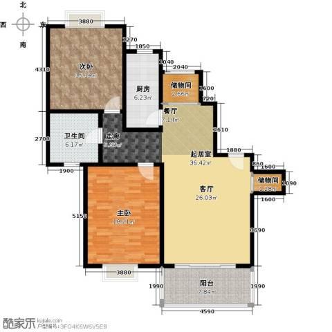 康悦亚洲花园2室0厅1卫1厨105.00㎡户型图