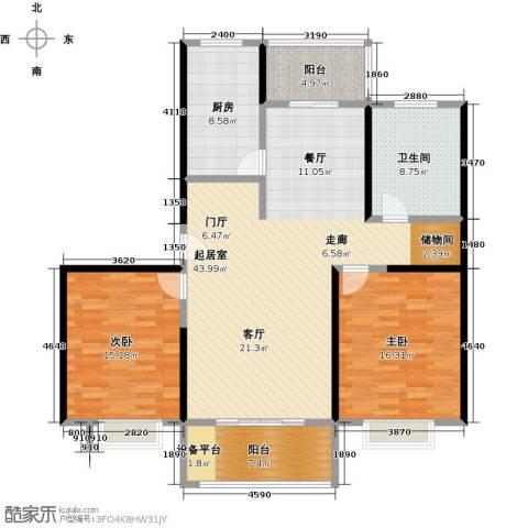 东方听潮豪园2室0厅1卫1厨116.00㎡户型图