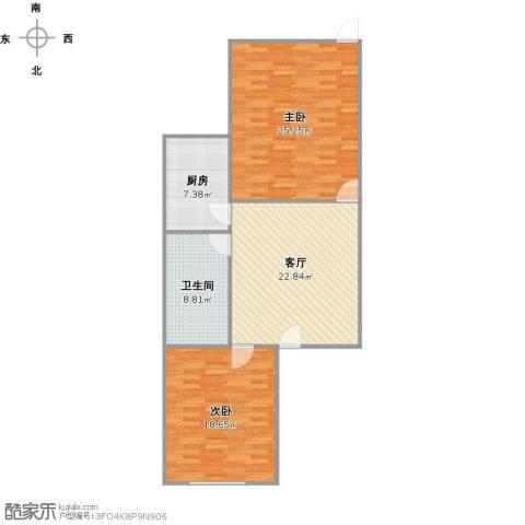 康健路77弄2室1厅1卫1厨110.00㎡户型图