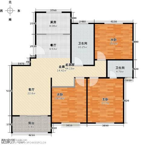 临港泥城苑3室0厅2卫1厨130.00㎡户型图