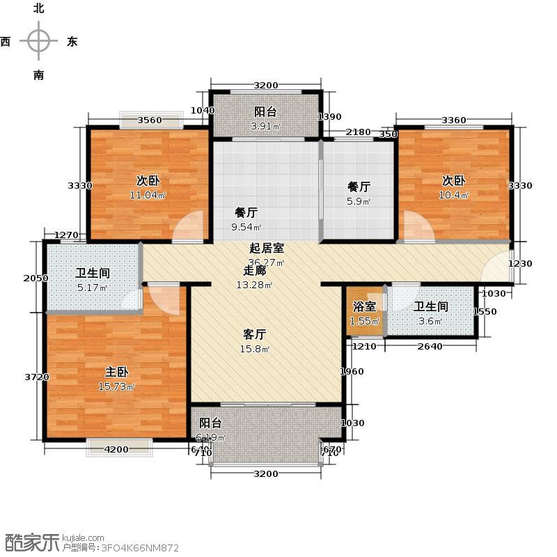 长泰公馆A户型3室1厅2卫