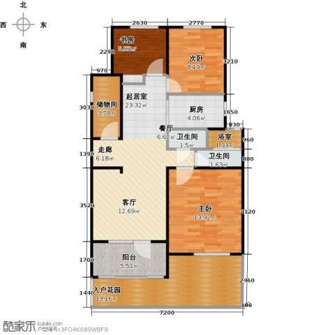 朗诗未来树3室0厅2卫1厨90.00㎡户型图