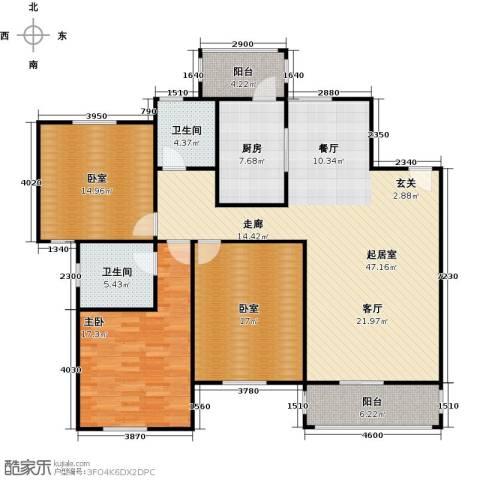 古北新城酩悦1661室0厅2卫1厨134.00㎡户型图
