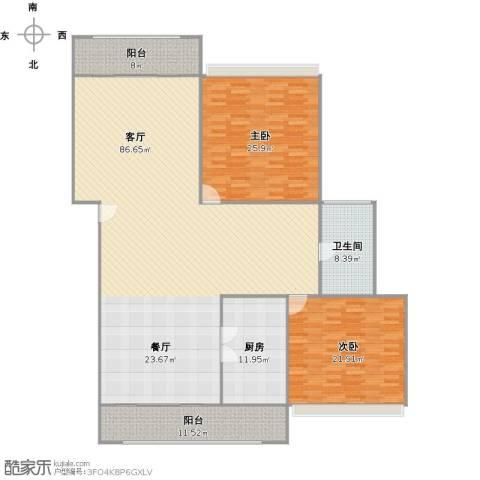 绿地新干线2室1厅1卫1厨229.00㎡户型图
