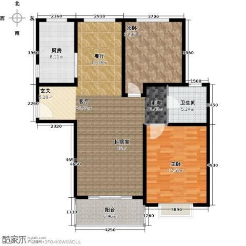 康悦亚洲花园2室0厅1卫1厨106.00㎡户型图