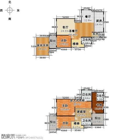 上海三湘海尚4室1厅4卫1厨261.00㎡户型图