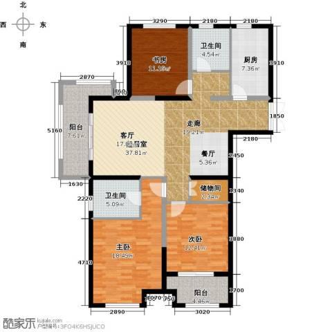 嘉宝紫提湾3室0厅2卫1厨127.00㎡户型图