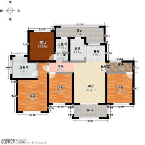 宝华盛世花园4室0厅2卫1厨139.00㎡户型图