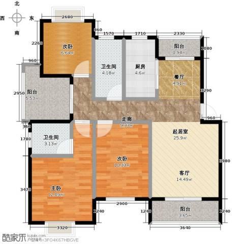 尚成府邸3室0厅2卫1厨89.00㎡户型图